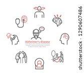 alzheimer's disease and... | Shutterstock .eps vector #1290607486