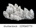 druze of quartz crystals with... | Shutterstock . vector #129060773