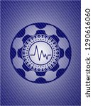 electrocardiogram icon inside... | Shutterstock .eps vector #1290616060