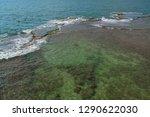 surf of the mediterranean sea.... | Shutterstock . vector #1290622030