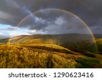 Shot Of A Full Rainbow Over Th...