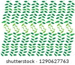 abstract green leaves with... | Shutterstock .eps vector #1290627763