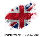 britain. british flag painted... | Shutterstock . vector #129062900