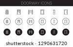 doorway icons set. collection... | Shutterstock .eps vector #1290631720