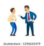 boss chief executive angry with ... | Shutterstock .eps vector #1290632479