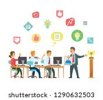 people at work  business ... | Shutterstock .eps vector #1290632503