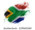 South African Flag Painted...