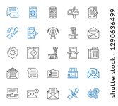 contact icons set. collection...