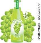 grapefruit juice bottle... | Shutterstock .eps vector #1290637270