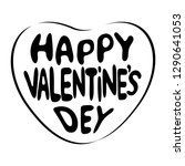 happy valentine's day lettering ... | Shutterstock . vector #1290641053