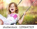 little child blond girl having... | Shutterstock . vector #1290647329