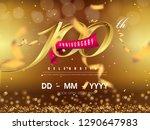 100 years anniversary logo... | Shutterstock .eps vector #1290647983