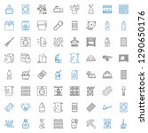 domestic icons set. collection... | Shutterstock .eps vector #1290650176
