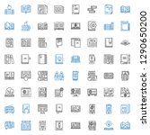 publication icons set.... | Shutterstock .eps vector #1290650200