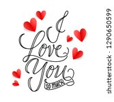happy valentines day poster... | Shutterstock .eps vector #1290650599