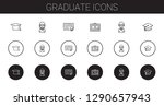graduate icons set. collection... | Shutterstock .eps vector #1290657943
