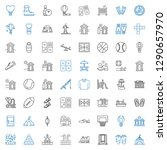 recreation icons set.... | Shutterstock .eps vector #1290657970