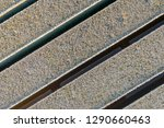 closeup of the frosted planks...   Shutterstock . vector #1290660463