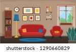 living room with chair  sofa ... | Shutterstock .eps vector #1290660829