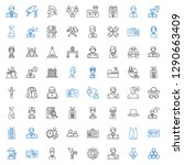 worker icons set. collection of ... | Shutterstock .eps vector #1290663409
