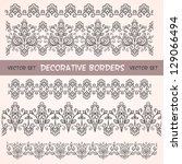 decorative floral borders. can... | Shutterstock .eps vector #129066494