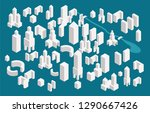 isometric town constructor set... | Shutterstock .eps vector #1290667426