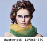 beauty portrait. fashion.... | Shutterstock . vector #1290684550
