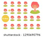 woman with different emotions.... | Shutterstock .eps vector #1290690796