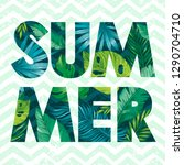 hello summer card poster with... | Shutterstock .eps vector #1290704710