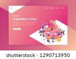 landing page valentine day | Shutterstock .eps vector #1290713950