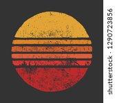 Sun Vintage Grunge Circle...