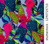 summer exotic seamless pattern. ... | Shutterstock . vector #1290725713