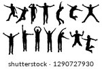 silhouettes group of young man... | Shutterstock .eps vector #1290727930