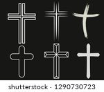 crosses of christian religion.... | Shutterstock .eps vector #1290730723
