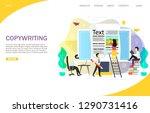 copywriting landing page... | Shutterstock . vector #1290731416