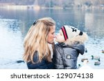 mom and son's kiss | Shutterstock . vector #129074138