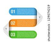 origami design element. vector. | Shutterstock .eps vector #129074219