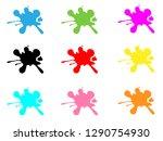 colorful paint splatters.paint...   Shutterstock . vector #1290754930