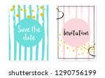 bridal shower card with dots... | Shutterstock .eps vector #1290756199