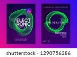 dance flyer. futuristic concert ... | Shutterstock .eps vector #1290756286