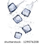 Collection Of Ice Cubes With...