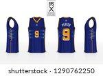 basketball uniform template... | Shutterstock .eps vector #1290762250