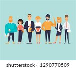 business characters  team ... | Shutterstock .eps vector #1290770509