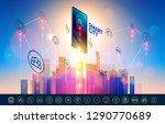 smart city wireless... | Shutterstock . vector #1290770689