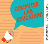 word writing text computer lab... | Shutterstock . vector #1290774343