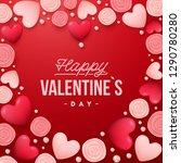 valentines day background .... | Shutterstock .eps vector #1290780280