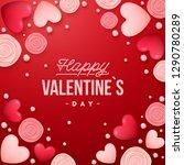 valentines day background .... | Shutterstock .eps vector #1290780289