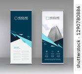 vertical banner stand template... | Shutterstock .eps vector #1290780886