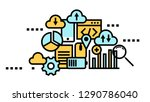 flat line icon art style... | Shutterstock .eps vector #1290786040