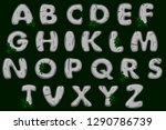 cartoon grey stone alphabet...